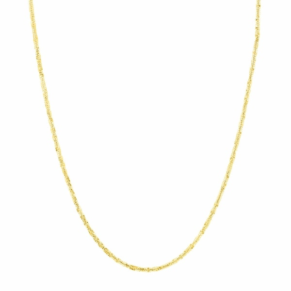 Just Gold 18-Inch Criss-Cross Chain in 14K Gold