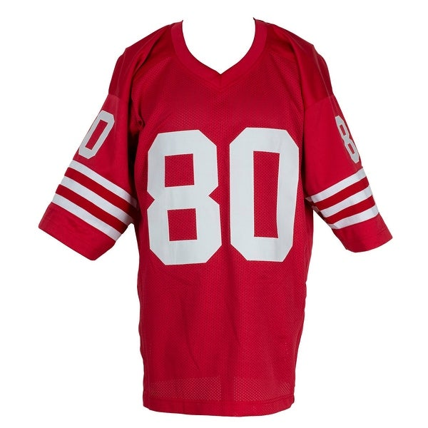 Jerry Rice Signed Custom Red Pro Style Football Jersey BAS ...