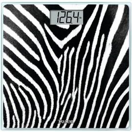 Taylor Glass Digital Bath Scale, Zebra