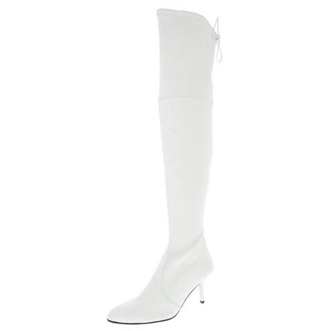 Stuart Weitzman Womens Tiemodel Over-The-Knee Boots Leather Stiletto