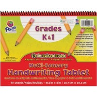 40 sheets pacon multi sensory handwriting tablet