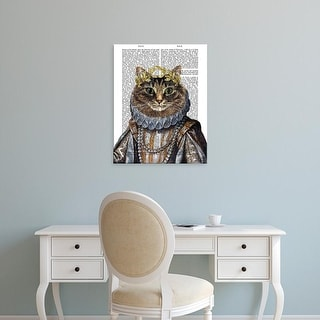 Easy Art Prints Fab Funky's 'Cat Queen' Premium Canvas Art