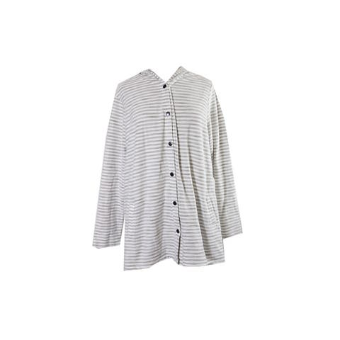 Style & Co. Plus Size Beige Striped Hooded Sweater 3X