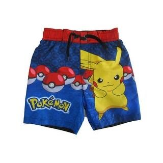 Pokemon Little Boys Royal Blue Swim Shorts