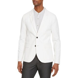 Kenneth Cole Reaction Mens Two-Button Blazer Single Vent Long Sleeves - M