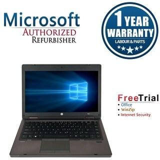 Refurbished HP ProBook 6465B 14.0'' Laptop AMD A6-3410MX 1.6G 4G DDR3 320G DVDRW Win 10 Pro 1 Year Warranty - Black