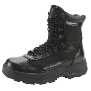 "Rocky Work Boots Mens 8"" Fort Hood Waterproof Leather Black FQ0002049|https://ak1.ostkcdn.com/images/products/is/images/direct/ff7788495c9fdf47d957532d4554d2f84b724fe9/Rocky-Work-Boots-Mens-8%22-Fort-Hood-Waterproof-Leather-Black-FQ0002049.jpg?impolicy=medium"