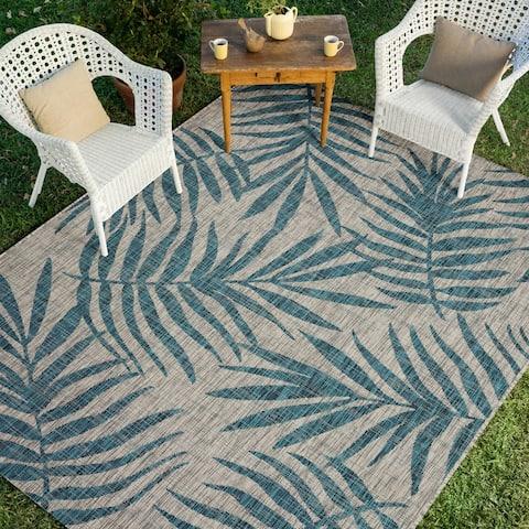 Alexander Home Collection Botanical Palms Indoor/Outdoor Rug