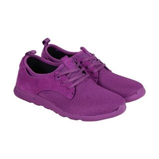 Cushe Shakra Womens Purple Pink Textile Lace Up Sneakers Shoes