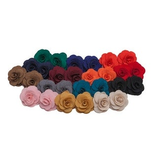 Double Knit Crepe Lapel Flower Boutonniere (More options available)
