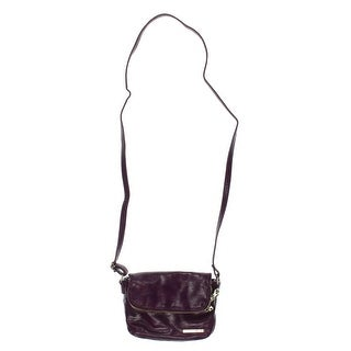 Kenneth Cole Reaction Womens Faux Leather Fold-Over Crossbody Handbag - SMALL