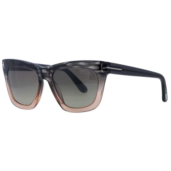 Tom Ford Celina TF361 20D Grey/Peach Square Women's Polarized Sunglasses - peach grey - 55mm-18mm-140mm
