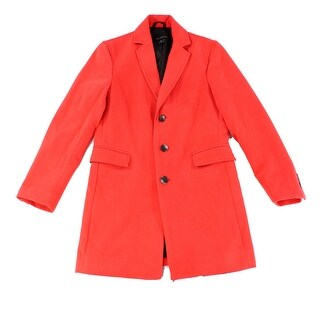 INC NEW Hot Sauce Red Mens Size Small S Solid Three Button Top Coat