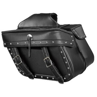 Weather Resistant Leather Look Motorcycle Saddle Bag Set 14.5X9.5X6X19.5