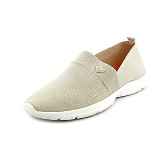 Easy Spirit e360 Quiet Step Women N/S Round Toe Canvas Ivory Walking Shoe