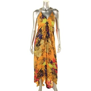 Nicole Miller Womens Silk Printed Maxi Dress - 6