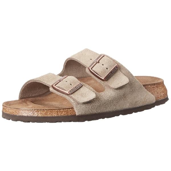 Birkenstock Womens ARIZONA Leather Open Toe Casual Slide Sandals