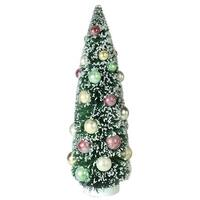 "15"" Frosted Green Sisal Pine Artificial Christmas Table Top Tree"