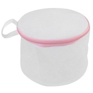Zipper Lingerie Delicate Bra Mesh Wash Bag Home Household Net Washing Laundry Basket Pink White