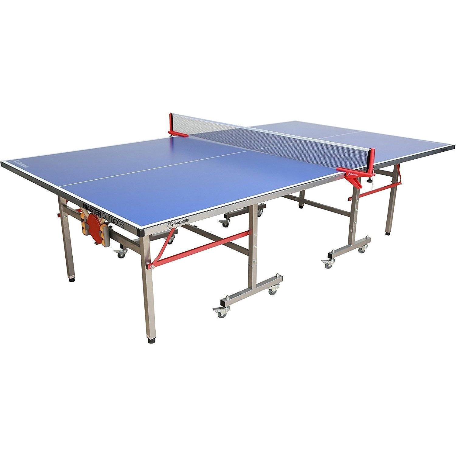Garlando Master Outdoor Full Size Imp 21 365 Table Tennis Ping Pong Table Blue