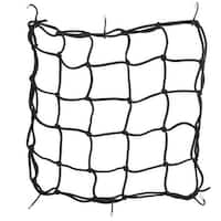 Unique Bargains Black 6 Hooks Elastic Stretchy Motorcycle Bike Bicycle Helmet Cargo Net