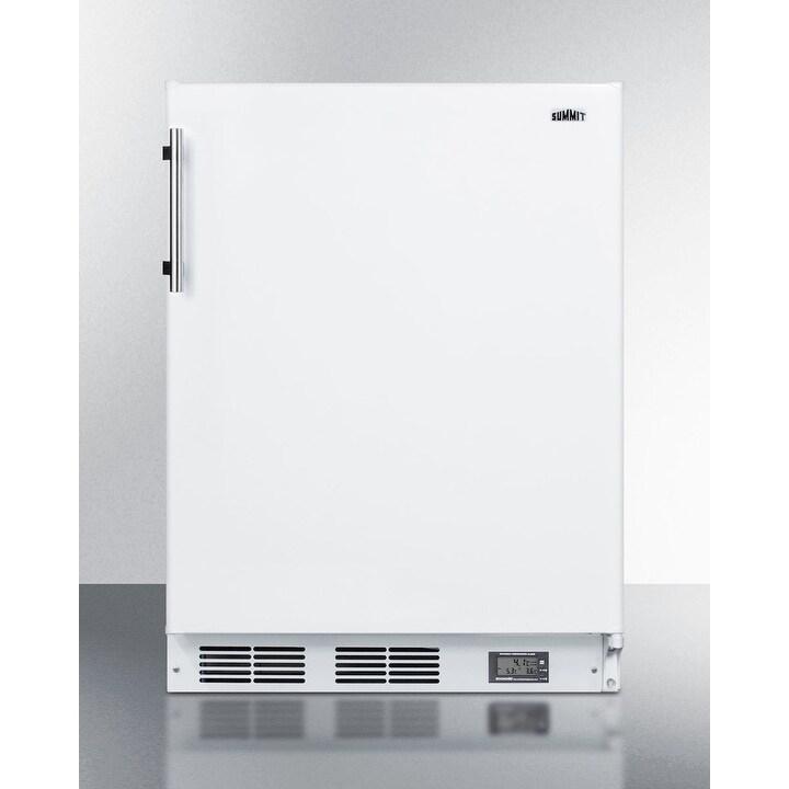 "Summit  BKRF661BIADA  24"" Wide 5.1 Cu. Ft. Compact Refrigerator - White (White)"