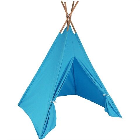 Sunnydaze Large Polyester Kid Teepee Tent w/Carry Case 5ft Tall -Multiple Colors