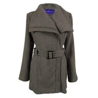 Madden Girl Women's Long Sleeve Textured Walker Coat - M