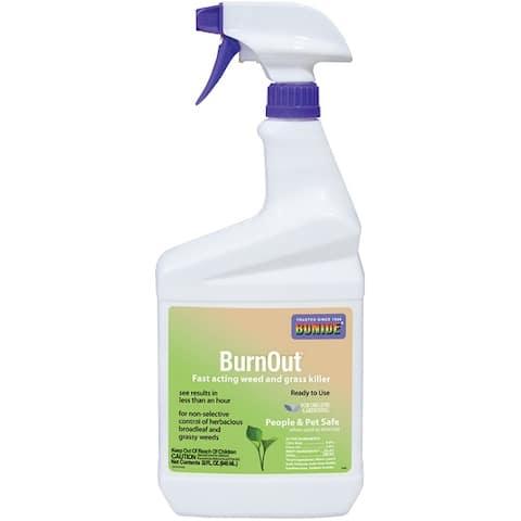 Bonide 7490 Burn Out Weed & Grass Killer RTU, Quart