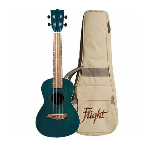 Flight Gemstone Series Concert Ukulele w/ Gig bag - Topaz - DUC380