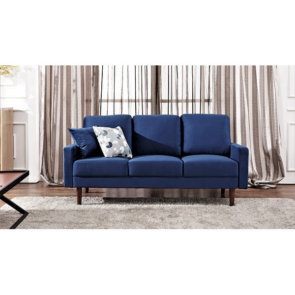 Lueck Contemporary Velvet Upholstered Sofa. Opens flyout.