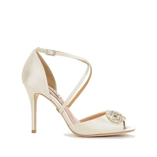 BADGLEY MISCHKA Womens Sari Open Toe Ankle Strap D-orsay Pumps