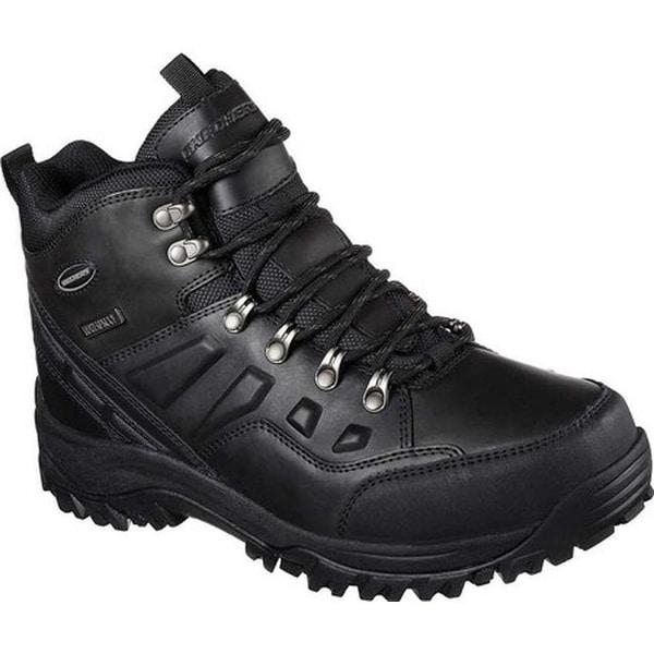 0b8cd7e69a332 Skechers Men's Relaxed Fit Relment Traven Hiking Boot Black/Black