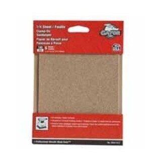 "Gator 5032-012 Clamp-On Multi-Purpose Power Sanding Sheet, 5-1/2"" x 4-1/2"", 100 Grit"