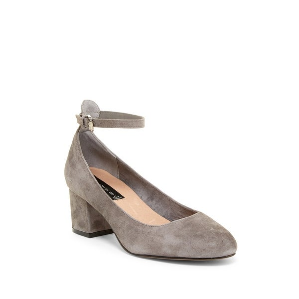 STEVEN by Steve Madden Womens Vassie Suede Closed Toe Ankle Strap Classic Pumps