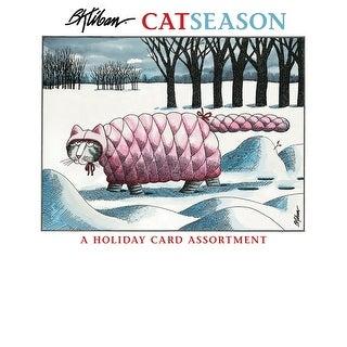 "Funny Cat Christmas Cards - 5"" x 7"" - B. Kliban CatSeason Holiday - Set of 20 - MultiColor"