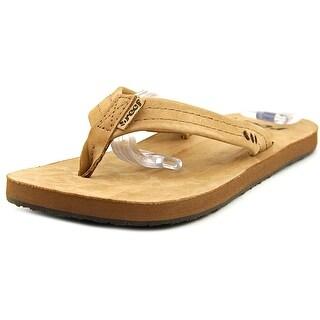 Reef Heathwood Women  Open Toe Leather Brown Thong Sandal