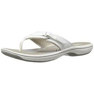 Clarks Womens Breeze Sea, White Synthetic
