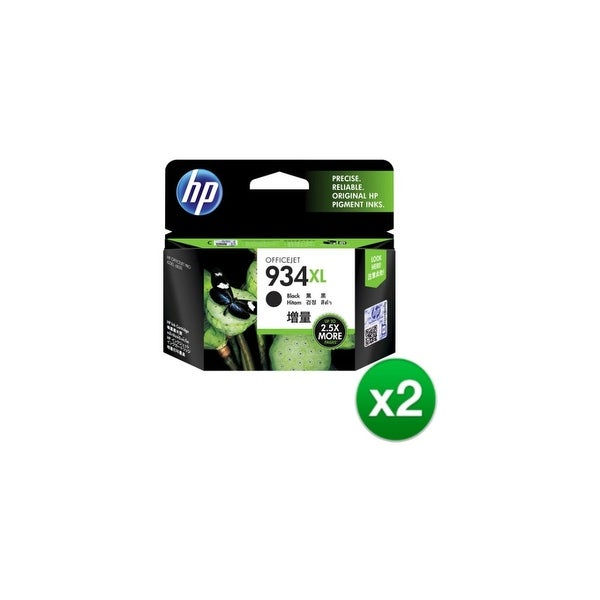 HP 934XL High Yield Black Original Ink Cartridge (C2P23AN) (2-Pack)