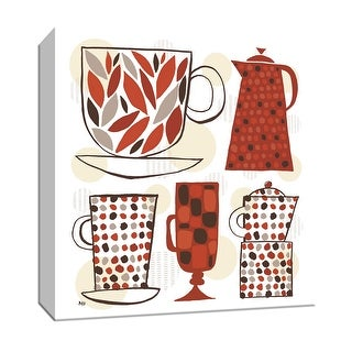 "PTM Images 9-151919  PTM Canvas Collection 12"" x 12"" - ""Spotted Kitchen I"" Giclee Coffee, Tea & Espresso Art Print on Canvas"