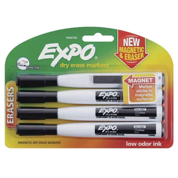 Shop EXPO Magnetic Dry-Erase Markers with Erasers, Fine