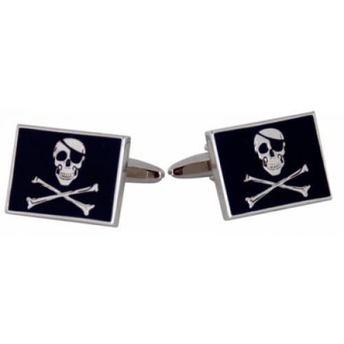 Jolly Rodger Flag Skull And Crossbones Pirates Of Caribbean Fan Cufflinks
