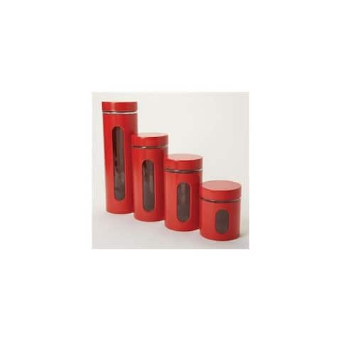 Anchor hocking 97561 palladian canister set red
