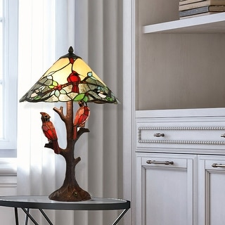 Link to Copper Grove Tongamamao 3-light Stained Glass Cardinal Lamp (23.75 in.) Similar Items in Table Lamps