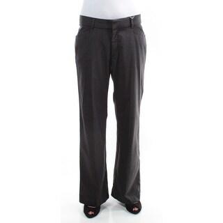 LEE Womens 1106 Gray Plaid Wear To Work Pants 4 B+B