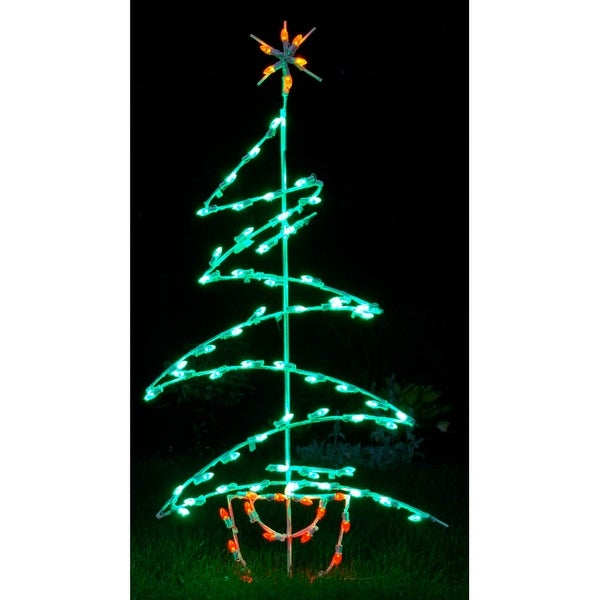 Christmas at Winterland WL-GM105-LED LED Light Zig Zag Tree - MultiColor - N/A