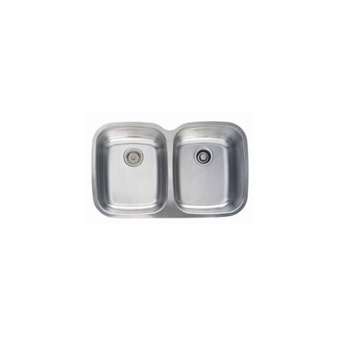 """Mirabelle MIRUC3321E 32-3/4"""" Double Basin Stainless Steel Kitchen Sink with 50/50 Split - Undermount Installation -"""