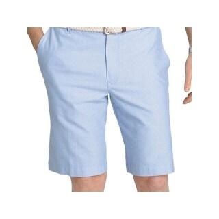 Izod Mens Newport Oxford Casual Shorts Cotton Flat front