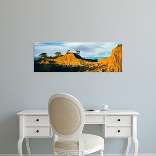 Easy Art Prints Panoramic Image 'Broken Hill, Torrey Pines Natural Reserve, La Jolla, San Diego,California' Canvas Art
