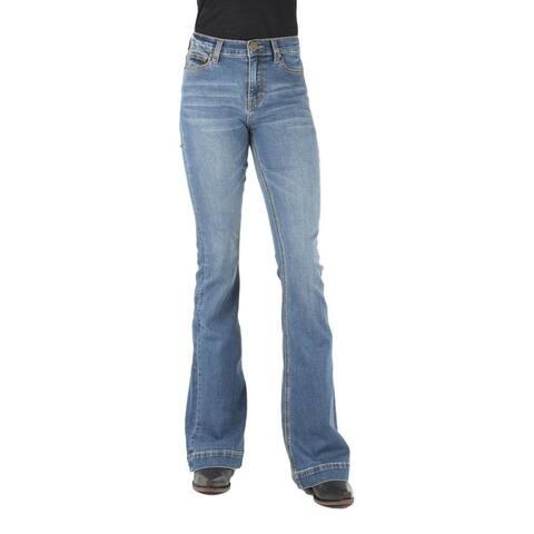 Tin Haul Western Jeans Womens Flare Blue
